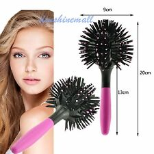3D Hair Brush Bomb Curl Brush Styling Salon Round Hair Curling Curler Comb Tool