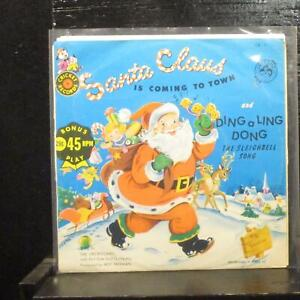 "Cricket Choral Group–Santa Claus Is Coming To Town VG+ 7"" Vinyl 45 Cricket CX-11"