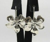 New Sterling Silver Earrings Flower Hallmarked Solid 925 New Handmade Empress