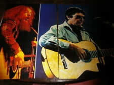 LEONARD COHEN & IAN ANDERSON - YES - Poster !!! 2P !!! VINTAGE 70'S !!!
