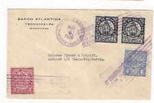 1928 Tegucigalpa Honduras,Airmail to Gablonz Czechoslovakia, Commercial Bank