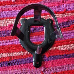 Bridle BRACKET - black metal Bridle Hook
