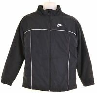 NIKE Boys Windbreaker Jacket 12-13 Years Large Black Polyester  DW01