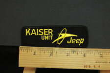 Vintage Kaiser Unit Jeep   Uniform Patch  Sew-on 4.25x1.5""