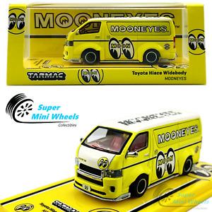 Tarmac Works 1:64 Toyota Hiace Widebody Mooneyes (Yellow) - 2021 HOBBY64
