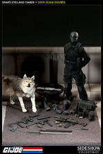 "Sideshow G.I. JOE Snake Eyes and Timber 1/6 scale 12"" Action Figure NIP 2014"
