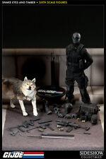 "Sideshow G.I. JOE Snake Eyes and Timber 1/6 scale 12"" Action Figure NIP 2014"