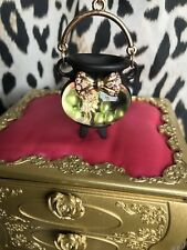 Betsey Johnson Enchanted Forest Witch Cauldron Spider COME AND GET IT Necklace
