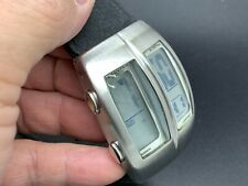 NEW OLD STOCK REACTION TM KENNETH COLE A126-03-RK5050 LCD SS QUARTZ MEN'S WATCH