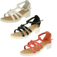 Spot On Girls Low Heeled Sandals