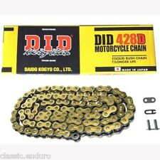 D.I.D BLACK GOLD BIKE CHAIN - 130 LINK / 428 PITCH FOR PITBIKES & ATV