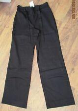 NWT BLACK LINEN BLEND TROUSERS SIZE 12 (31'' LEG)