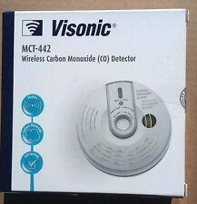 Lot of 2 Visonic Wireless Carbon Monoxide CO Detector MCT-442 SENSOR Gas