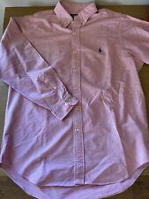 GENUINE Ralph Lauren Classic Fit Shirt Size 16 Mens Pink