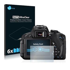 6x Displayschutzfolie für Canon EOS 700D Klar Schutzfolie Displayfolie