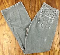 DKNY Jeans Womens Boot Cut Stretch Corduroy Pants Tag Size 12 Actual 31x30