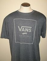 Vans Shoes Mens SS Print Box OTW Logo Tee Shirt Blue Grey size XXL Free Ship NWT