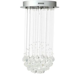 Pendant Chandelier Ceiling Lamp Crystal Ball Fixture Light Flush Mount Lighting