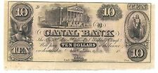 Canal Bank - New Orleans - Obsolete 10 Dollar Note - 18__ - AU condition