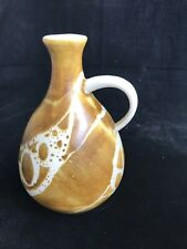 Aviemore Scottish Studio Pottery Amber Abstract Design Flask Vase