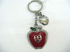 Apple Key Ring with Charm