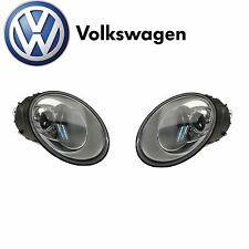 Volkswagen Beetle 2006-2010 Pair Set of 2 Halogen Headlights Assembly Genuine