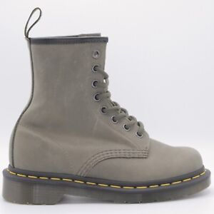 Dr Martens Air Wair Bouncing Soles Soft Olive Green Woman's Combat Boots Size 5