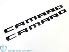 Chevy Camaro Carbon Fiber Emblem Set 10-15 Side Fender Badges OEM GM Nameplates