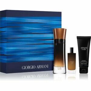 Giorgio ARMANI Code PROFUMO 60ml & 15ml Spray Shower GEL 75ml Men's Gift Set