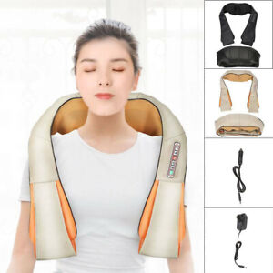 Electric Shiatsu back,neck & shoulder massager with heat- 6 Button Kneading Body