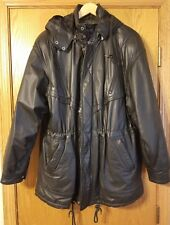 Leather jacket, Wilsons leather jacket, with hood & liner