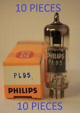 PL95 PHILIPS LOGO WEST EUROPEAN NOS TUBES VALVES 10 PIECES