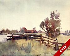 NORFOLK COTTAGE ENGLAND ENGLISH COUNTRYSIDE LANDSCAPE ART PAINTING CANVAS PRINT