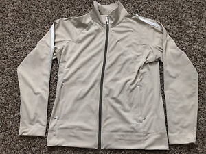 Womens Nike Golf FitDry Khaki Beige Medium Jacket NWT