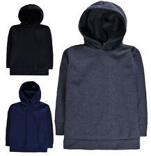 Boys Plain Hooded Jumper Kids Hoodie Sweat Shirt Top New Sweatshirt Age 5-13 Yrs