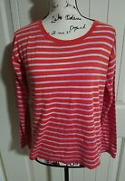 Hi-Line By Madewell Red Stripe Long Sleeve Top 100% Cotton Women Size XS