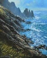 Richard Blowey Original Oil Painting - Coastal Scene Cornwall (Cornish Art)