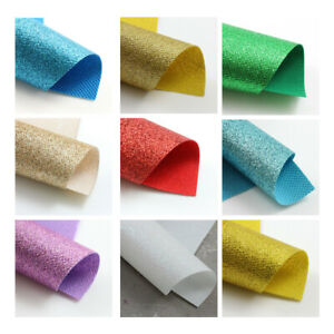 FINE GLITTER FABRIC SHEETS ~CHRISTMAS SPARKLE~ MATERIAL *11 COLOURS * HAIR BOWS
