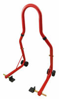 LÈVE MOTO BEQUILLE D'atelier ARRIERE PADDOCK STAND UNIVERSEL ROUGE