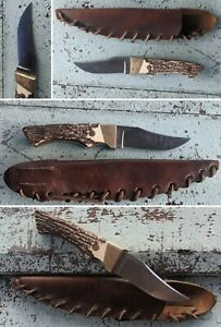 SCHRADE UNCLE HENRY USA 144 STAINLESS FIXED BLADE HUNTING SKINNING KNIFE VTG 70s