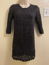 Cat And Jack Girls Black Sweater Dress Size L 10-12