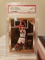 Vince Carter 1998 99 Topps basketball #199 Toronto Raptors RC rookie Mint PSA 9