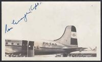 KLM Airlines DC-4 signed by KLM pilot Captain Ron George circa 1946