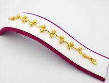 Beaded 22K 23K 24K THAI BAHT YELLOW GP GOLD Bracelet  Bangle Jewelry Girl Women