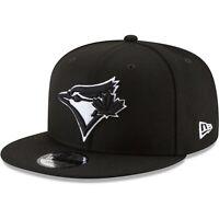Toronto Blue Jays New Era 9Fifty Black White Logo On Field Snapback Hat Cap MLB