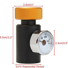 Fill Soda Stream Tank Aluminum Pressure On/Off Adapter With 1500PSI Gauge New