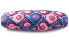 NEW Clam Shell Hard Case Purple-Blue (Button) for Eyeglasses /Cleaning Cloth KC2