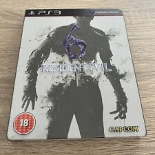 Resident Evil 6 - PS3 STEELBOOK Game - Complete RARE - Private Seller FREE P&P!