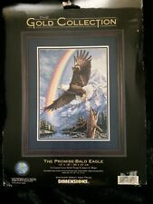 Dimensions Gold Collection The Promise Bald Eagle Counted Cross Stitch Kit NEW