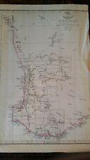 1863 ANTIQUE MAP WESTERN AUSTRALIA - WELLER / WEEKLY DISPATCH ATLAS